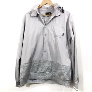 Diamond Supply Co. Hooded Light Gray Jacket size M